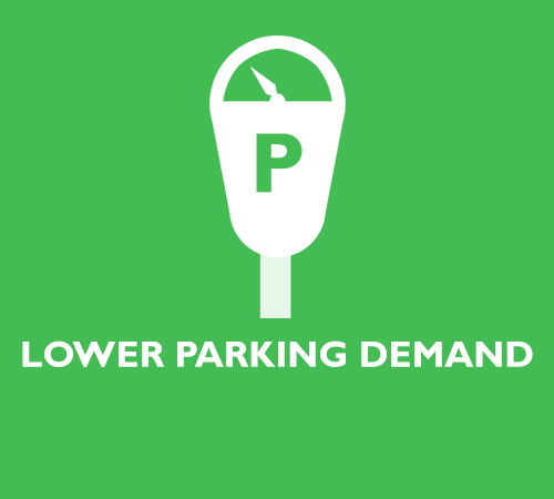 LOWER PARKING DEMAND