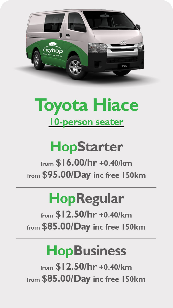 Hiace 10 seater Apr19